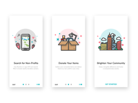 Onboarding Screens for a Donation App
