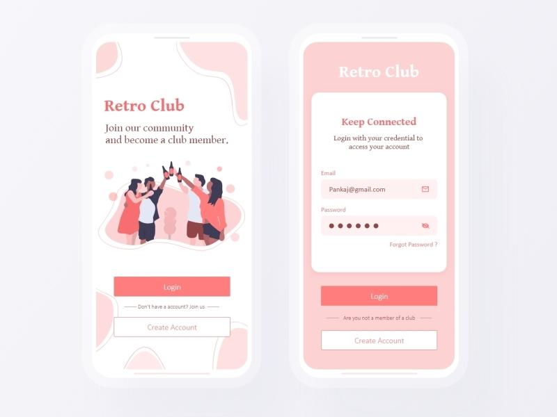 Club application | Splash screen | Community app ui screen splash screen splashscreen ui android app member membership community user experience design app userinterface app design app-ui ux club