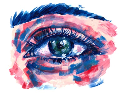Eye brush strokes experiment warm colors cool colors eye acrylics acrylic painting painting drawing visual art traditional illustration traditional art illustration art illustration