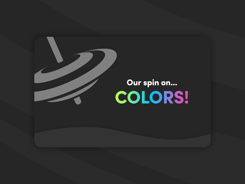 Our spin on... Colors! - Digital Magazine color magazine top spin dark theme interaction interactive animated publishing indesign clean art magazine design digital magazine colorful colors digital art minimal illustration design