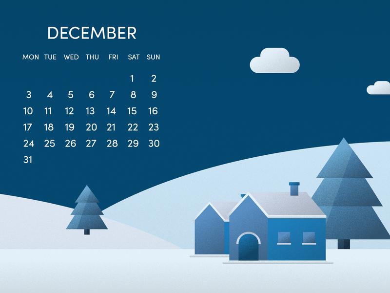 Wallpaper Calendar December 2018 By želimir On Dribbble