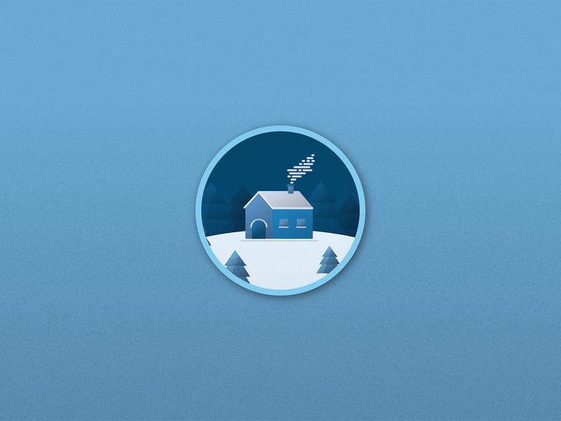 Minimalistic wintery wallpaper winter wallpaper vector illustration design