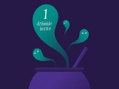 Halloween Dribbble invite giveaway