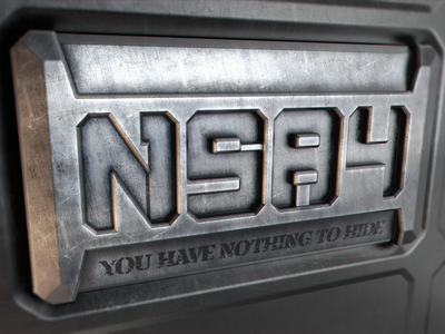 NSA Plaque Proposal nsa 1984 nsa1984 snowden big brother prism wire tapping privacy security 3d