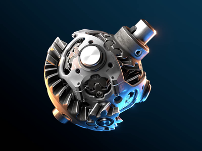 Epicyclic gear 3d mechanic blender animation hard surface gears mechanical differential