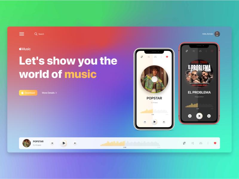 Apple Music ios uxui ux app music apple
