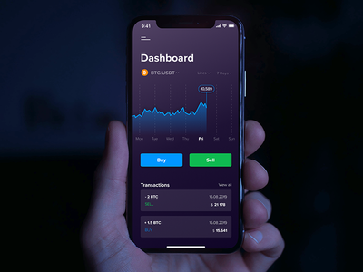 Сryptocurrency trading application