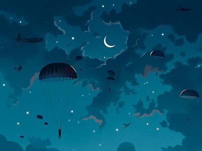 Night Sky design photoshop illustration illustrated book arts book cover design
