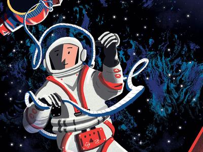 Space Walk picturebook leporello concertina