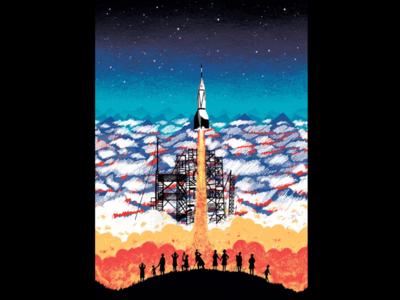 Sputnik Launch picturebook