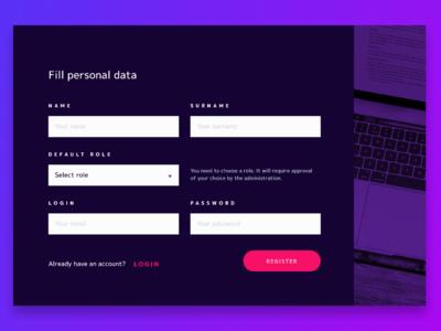 Create an account Form