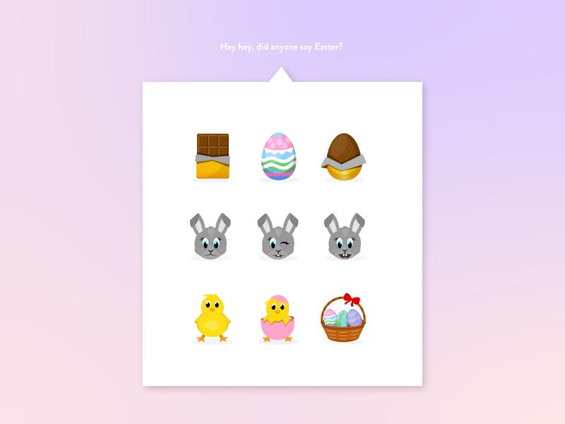 Easter Emoji pack design vector easter eggs chocolate egg chick ilustration eggs emojis easter