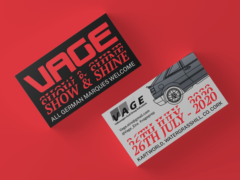 Vage 2020 Show Cards vector car automotive illustration typography graphic design design branding