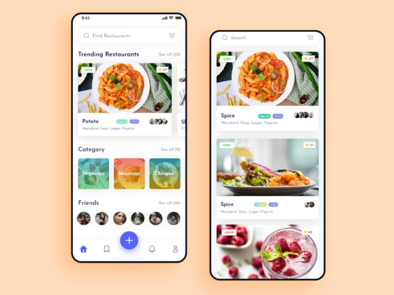 Food Cafe ui ux food app web