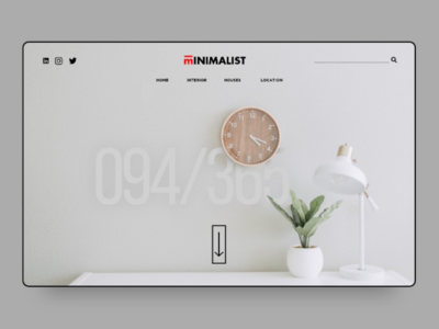 Minimal interior website
