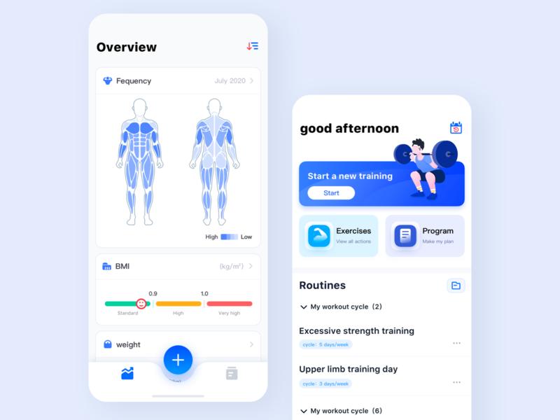 One More - live up to every training icon 方式 练习 健康 青年 体测 研究 ui 蓝色 线上 苹果手机推信设备 图形 插图 运动 锻炼 健身 设计 app li ci app