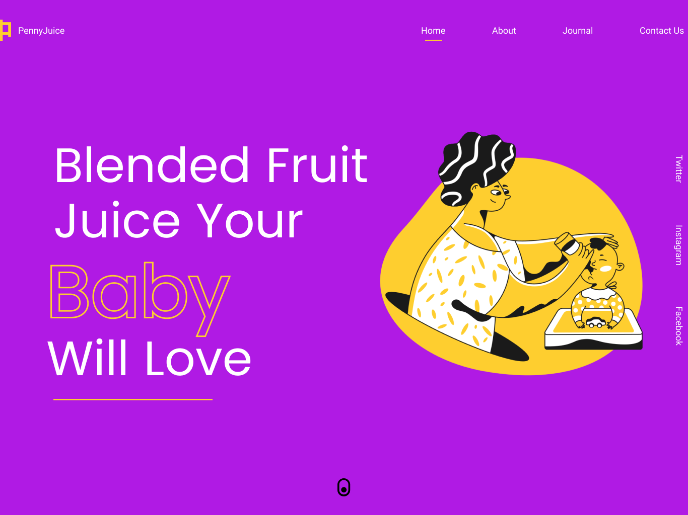 Penny Juice hero web ui typography design