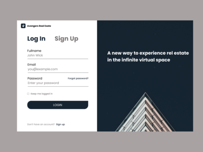 Quick Login Page for HNG 6 Task