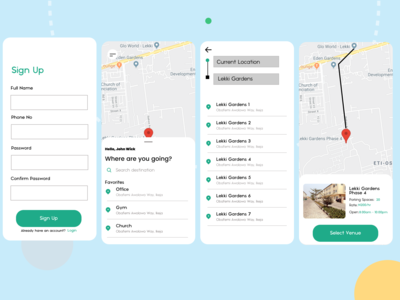 Parking solution app