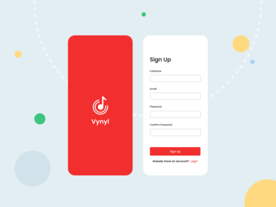 Vynyl mobile signup
