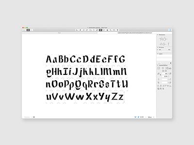 Got my full alphabet done typography typetogether typeface designer typeface design typeface type daily type challenge type art type glyphsapp font design coffee alexjohnlucas
