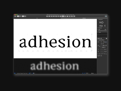 Adesion typography typetogether typeface designer typeface design typeface type daily type challenge type art type glyphsapp font design alexjohnlucas