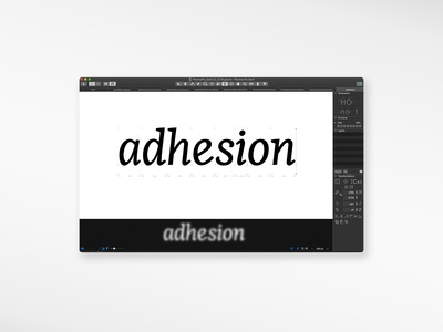 Italic Font Design