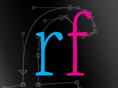 Lowercase r and f
