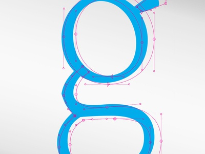 Lowercase g with beziers