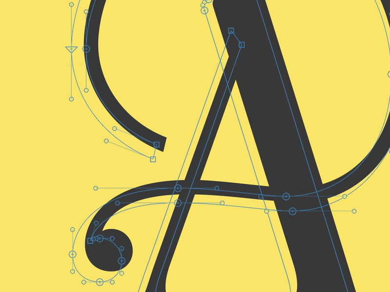 Working on a Display Face type challenge illustration typography typetogether typeface designer typeface design typeface type daily type art type glyphsapp font design alexjohnlucas