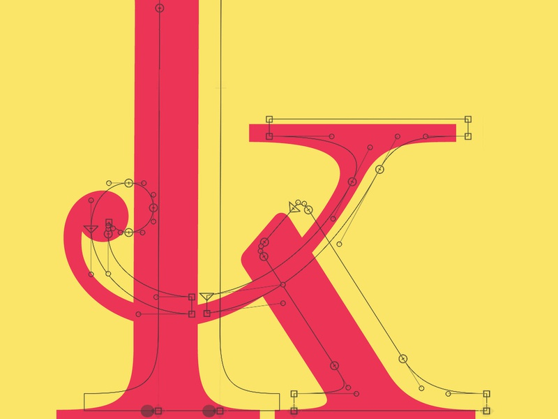 Lowercase k vector illustration typography typetogether typeface designer typeface design typeface type daily type challenge type art design type glyphsapp font alexjohnlucas