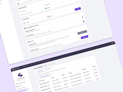 User Profile user profile profile product page ux product ui design