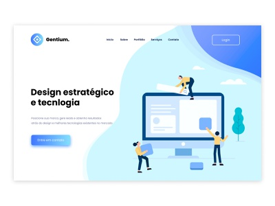 Landing page concept to a design agency design illustration minimalist website landing page ux ui design ux ui uxdesign uidesign