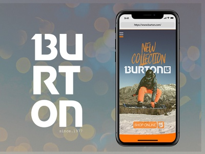 BURTON - IOS HOMEPAGE