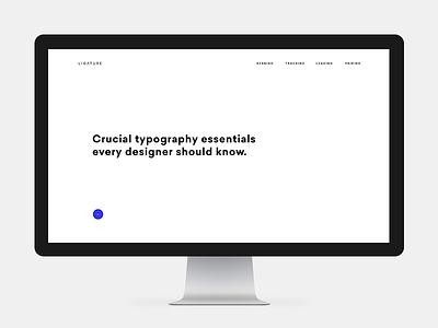 Ligature Typography Essentials clean grid minimalism ux ui typography