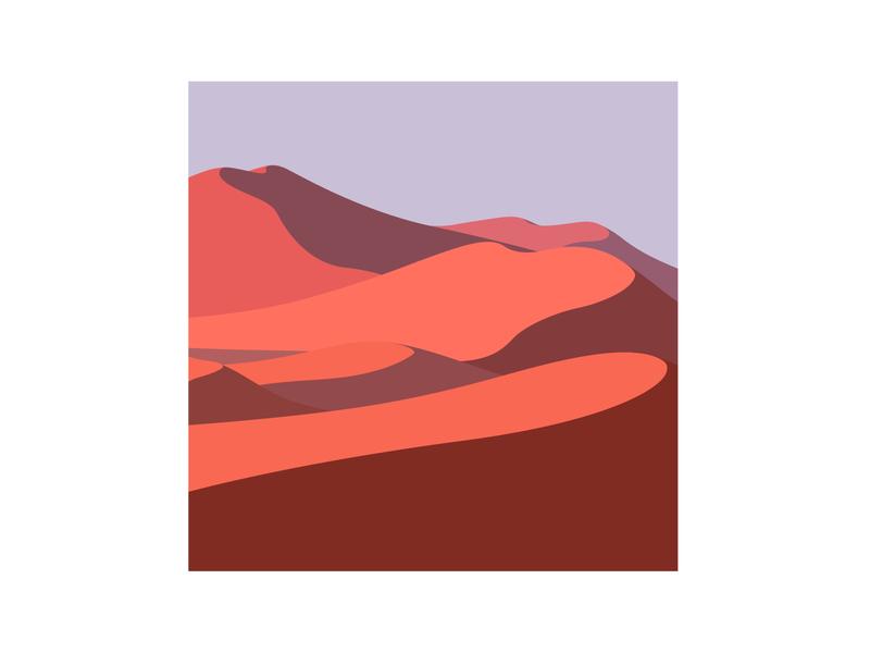 Namibia Desert | Illustration series nature vector simple print poster minimal landscape illustrator illustration graphic design graphic flat digital art design desert creative color clean artwork art