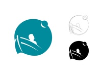Artist logo design painter artist negative space concept creative clean creative agency design studio boat moon logo design identity mark brand graphic design flat vector branding logo design
