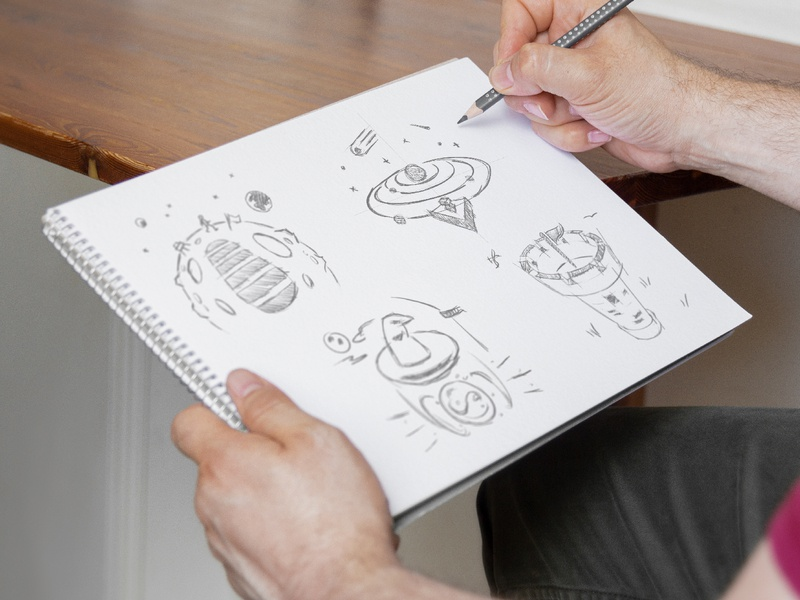 Process Illustration sketches illustrator art website graphic design creative design agency creative agency design studio process pencil drawing sketches sketch icons concept illustration design