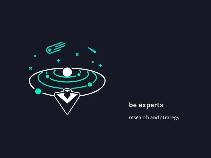 Step 1 - be experts | Illustration planet design vector color graphic design illustration flat creative concept illustrator sketch drawing website creative agency design agency design studio icon space solar system