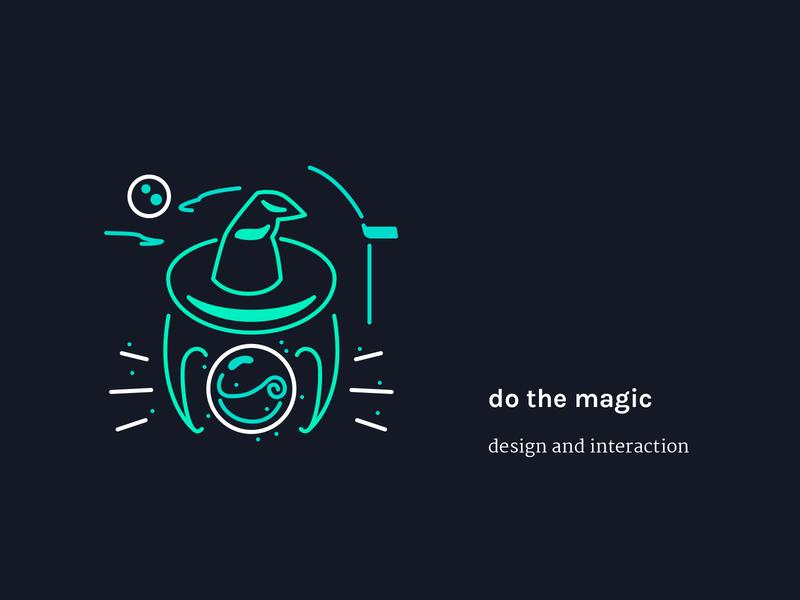 Step 3 - do the magic | Illustration crystal ball hat magician magic website vector sketch illustrator illustration icon graphic design flat drawing design studio design agency design creative agency creative concept color