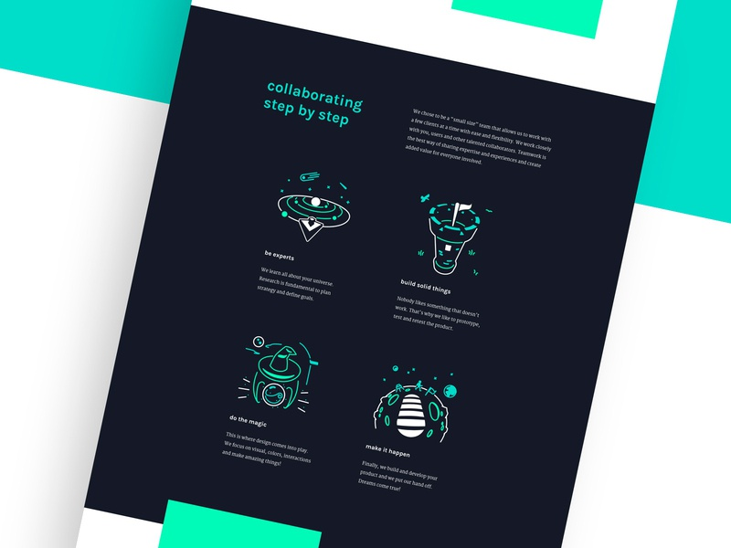 Working process icons web iconography web design ui ux website vector illustration icon graphic design flat design studio design agency design creative agency creative concept color landing page process