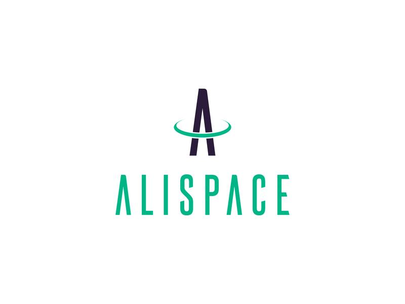 Alispace logo design halo green logotype identity drone letter a creative agency design agency design studio a logo ring space mark brand branding logo graphic design color vector design