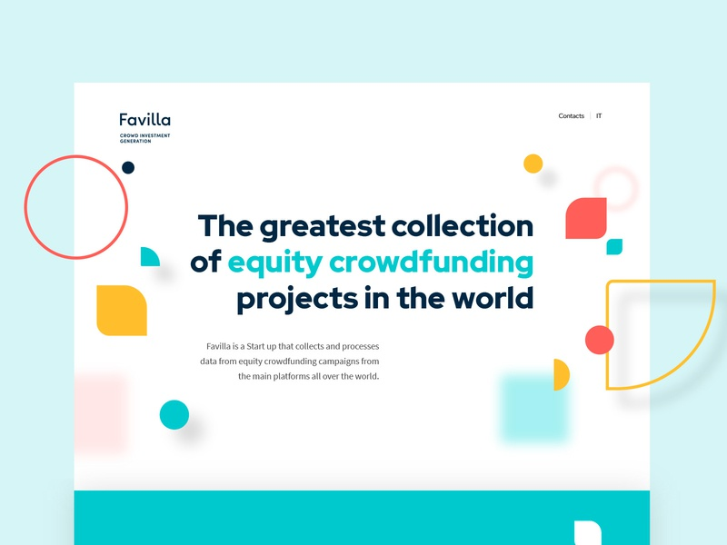 Favilla landing page adobe xd design studio dailyui graphic design modern product design shapes ux design ui design crowdfunding webdesign ux ui interface homepage color landing page website web design