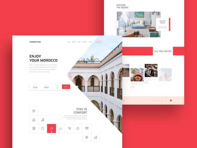 Charming Riad hotel homepage