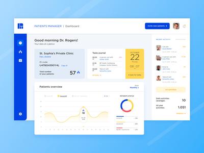 Patients Manager | UI design