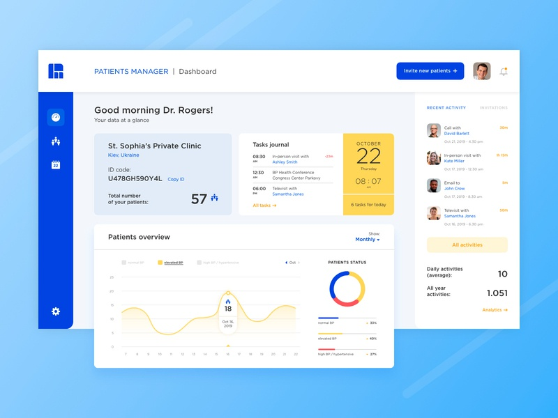 Patients Manager | UI design
