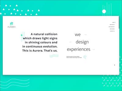 AURØRA design website