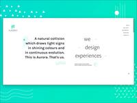AURØRA design website website ui ux design animation minimal clean color web graphic design vector flat green white gradient simple interaction illustration landing page motion