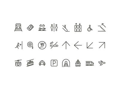 Subway Wayfinding | Icons system