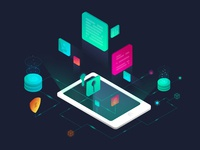 Cyber Security | Isometric illustration